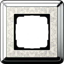Ramka pojedyncza GIRA ClassiX Art chrom kremowy