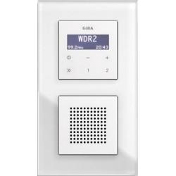 Radio podtynkowe GIRA Esprit białe szkło (połysk)