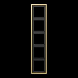 Jung LS Mosiądz Klasyczny - Ramka 5-krotna
