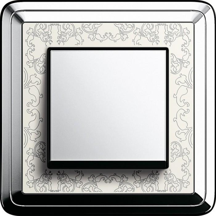 Gira ClassiX Art chrom kremowy - Łącznik pojedynczy uniwersalny - KOMPLET