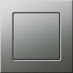 Gira E22 Płaski włącznik stalowy, schodowy uniwersalny - KOMPLET