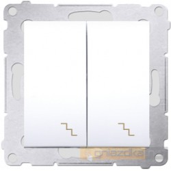 Łącznik schodowy podwójny biały Simon 54 Premium