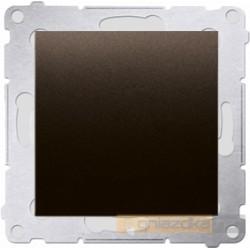 Przycisk zwierny pojedynczy brąz mat Simon 54 Premium