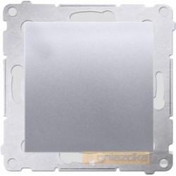 Przycisk zwierny pojedynczy srebrny mat Simon 54 Premium