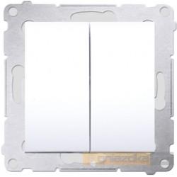 Przycisk zwierny podwójny biały Simon 54 Premium