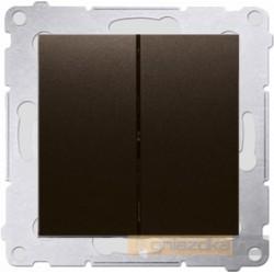 Przycisk zwierny podwójny brąz mat Simon 54 Premium