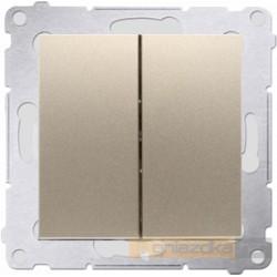 Przycisk zwierny podwójny złoty Simon 54 Premium