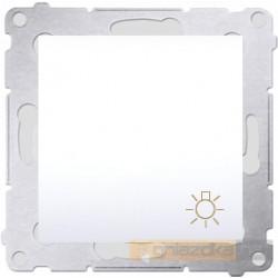 """Przycisk zwierny """"światło"""" biały Simon 54 Premium"""