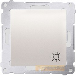 """Przycisk zwierny """"światło"""" krem Simon 54 Premium"""