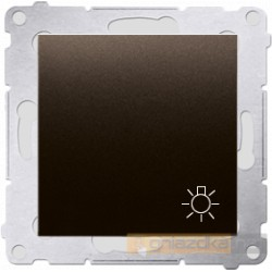 """Przycisk zwierny """"światło"""" brąz mat Simon 54 Premium"""