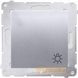 """Przycisk zwierny """"światło"""" srebrny mat Simon 54 Premium"""