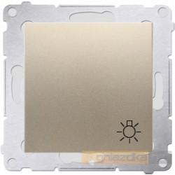"""Przycisk zwierny """"światło"""" złoty Simon 54 Premium"""