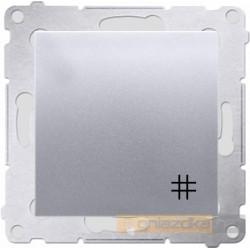 Łącznik krzyżowy podwójny srebrny mat Simon 54 Premium