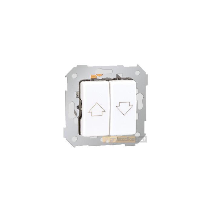 Przycisk zwierny pojedynczy biały Simon 27 Play