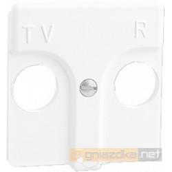 Gniazdo R-TV przelotowe 16,2dB / 16,2dB biała Simon 27 Play