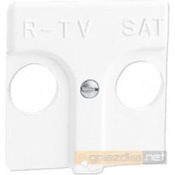 Gniazdo R-TV-SAT przelotowe 15dB / 16dB biała Simon 27 Play