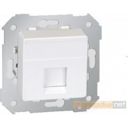 Gniazdo komputerowe pojedyncze RJ45 kat 5e biały Simon 27 Play
