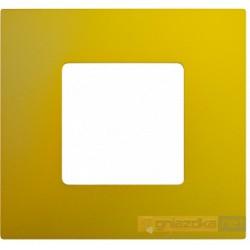 Nakładka 1-krotna żółta metalizowana Simon 27 Play