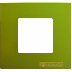 Nakładka 1-krotna zielona metalizowana Simon 27 Play