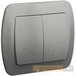 Łącznik schodowy podwójny aluminiowy metalizowany Akord