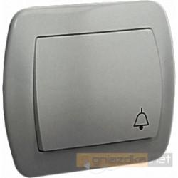"""Przycisk zwierny """"dzwonek"""" aluminiowy metalizowany Akord"""
