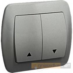 Przycisk żaluzjowy aluminiowy metalizowany Akord