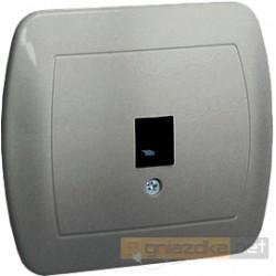 Gniazdo telefoniczne pojedyncze RJ11 aluminiowy metalizowany Akord