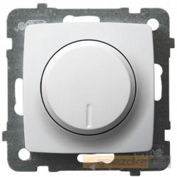 Ściemniacz przyciskowo-obrotowy biały Karo Ospel