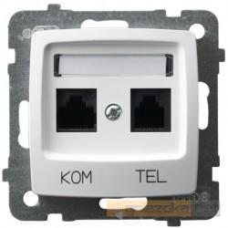 Gniazdo komputerowo-telefoniczne RJ 45 biały Karo Ospel
