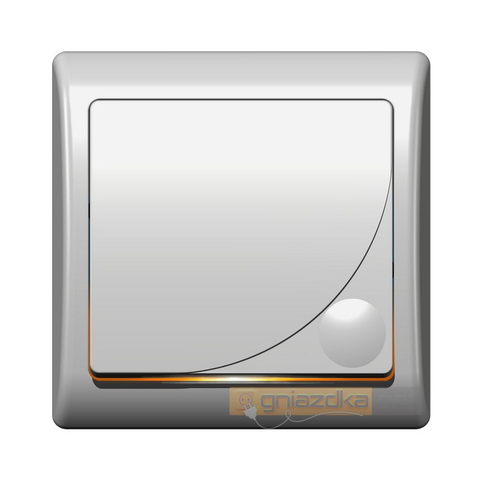Łącznik jednobiegunowy z podświetleniem biały Efekt Ospel