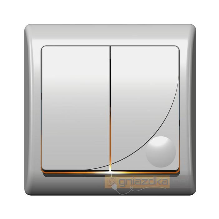 Łącznik dwugrupowy, świecznikowy biały Efekt Ospel