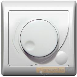Ściemniacz przyciskowo-obrotowy biały Efekt Ospel
