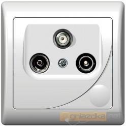 Gniazdo RTV-SAT końcowe, 1,5-2 dB biały Efekt Ospel