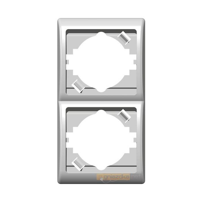 Ramka podwójna, pionowa biały Efekt Ospel