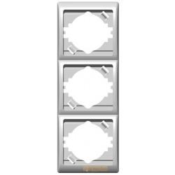 Ramka potrójna, pionowa biały Efekt Ospel