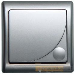 Łącznik jednobiegunowy srebro Efekt Ospel