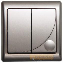 Łącznik dwugrupowy, świecznikowy srebro Efekt Ospel