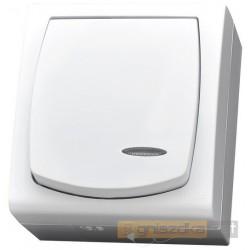 Łącznik jednobiegunowy z podświetleniem biały Madera Ospel