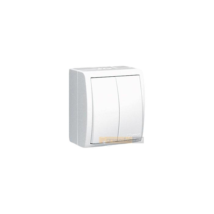 Łącznik świecznikowy bryzgoszczelny IP54 biały Aquarius