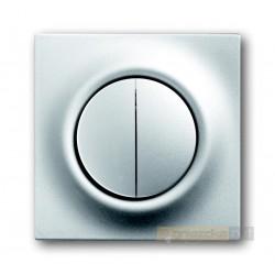 Łącznik podwójny schodowy impulsowy aluminiowo srebrny Impuls ABB
