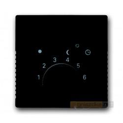 Regulator temperatury z lampką i przełącznikiem antracyt ABB