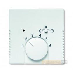 Regulator temperatury z lampką i przełącznikiem biały studyjny ABB
