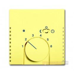 Regulator temperatury z lampką i przełącznikiem żółty Solo ABB
