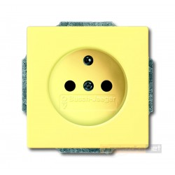 Gniazdo z uziemieniem żółty Solo ABB