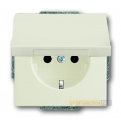Gniazdo z klapką schuko biały-chalet Axcent ABB