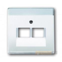 Gniazdo komputerowe podwójne RJ45 kat.5e biały studyjny ABB