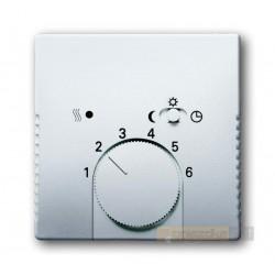 Regulator temperatury z lampką i przełącznikiem stal szlachetna Pure ABB