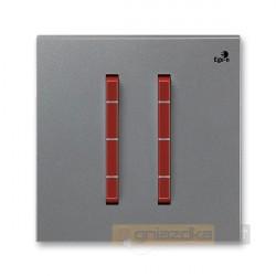 Łącznik podwójny schodowy stalowy terakota NEO ABB
