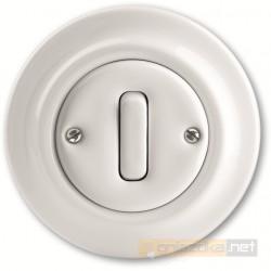 Przycisk zwierny biały Decento ABB