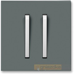 Łącznik podwójny schodowy grafitowy / lodowo biały NEO ABB